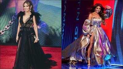 No le bastó con uno: Thalía lució dos espectaculares vestidos en Latin GRAMMY (fotos)