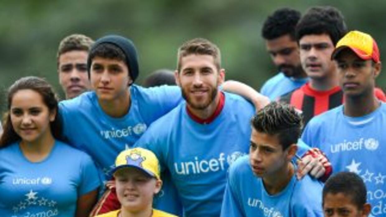 Desde 2007 Sergio Ramos ha colaborado estrechamente con UNICEF.