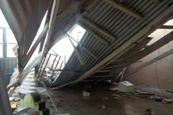 Fotografía de una vivienda afectada por un terremoto en Tapachula, estad...