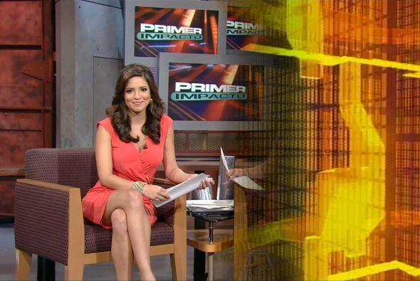 El primer día de Pamela como presentadora de Primer Impacto