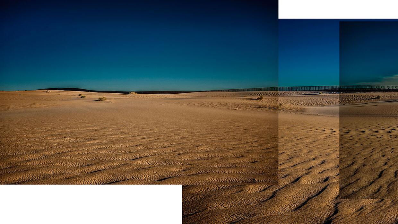 Sector conocido como Imperial Sand Dunes, donde se encuentran California...
