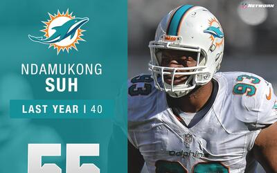 #55 Ndamukong Suh (DT, Dolphins) | Top 100 Jugadores 2017