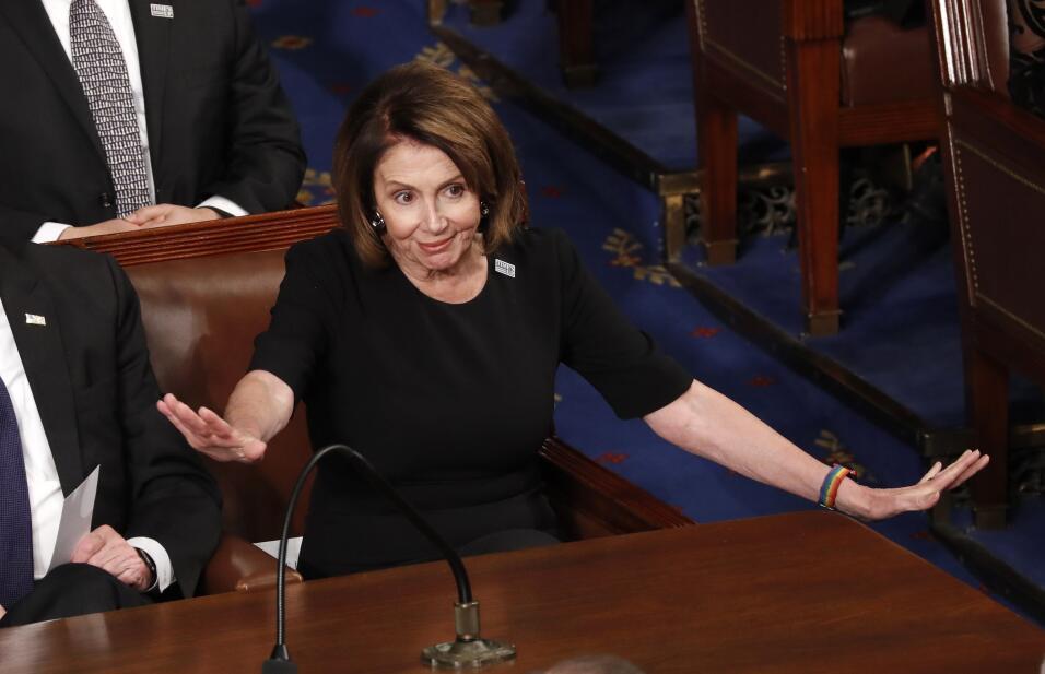Nancy Pelosi, líder de la minoría de la Cámara de R...