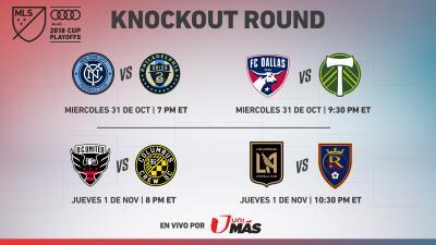 Así se jugarán los Playoffs de la MLS 2018