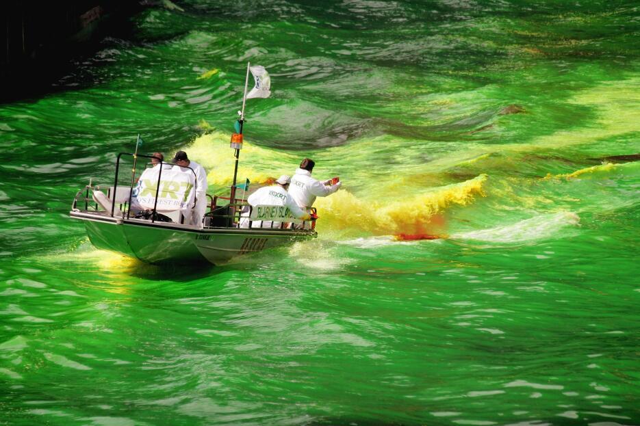 El color verde de logra con un tinte de origen vegetal biodegradable.