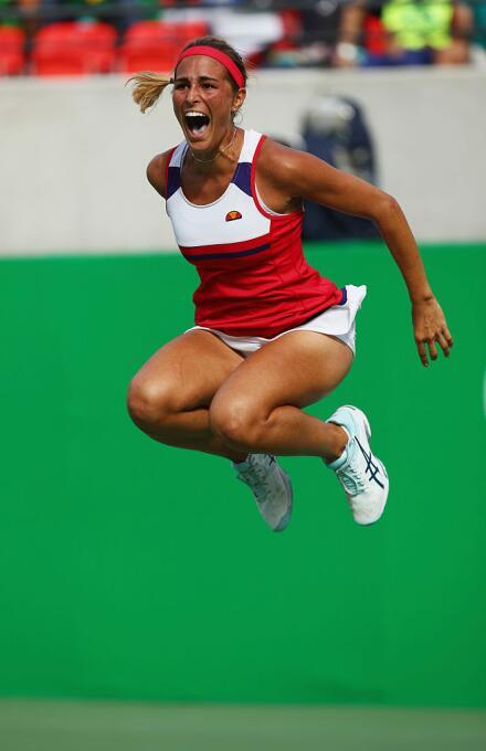 Mónica Puig clasificó a la final de tenis femenil en singles al vencer e...