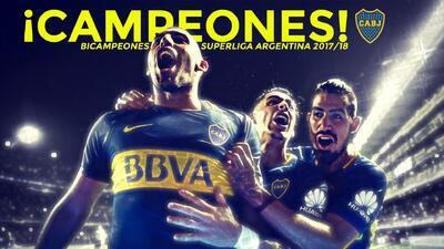 Boca Juniors bicampeón de la SuperLiga Argentina 2017/18
