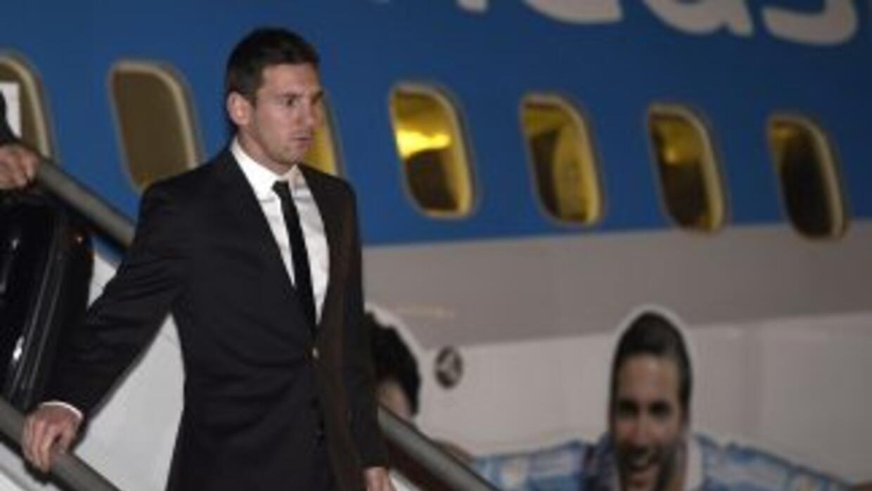 Messi llega a Brasil