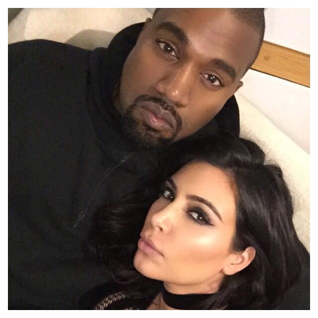 Kim Kanye besos