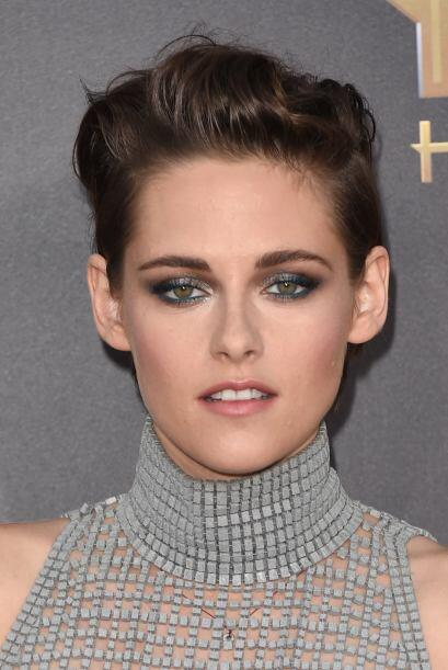 En este caso, ella aplicó plata con verde y el resultado es muy original...