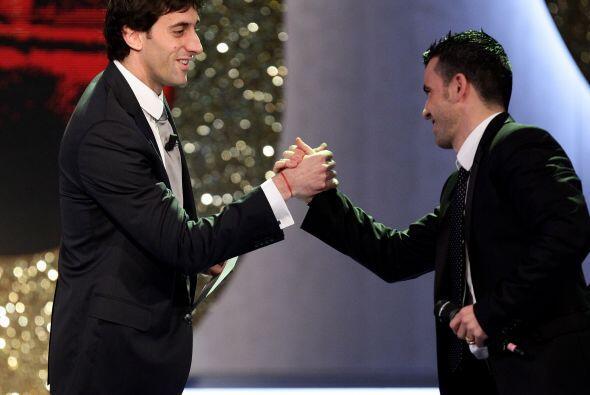 Diego Milito y Antonio Di Natale fueron premiados.