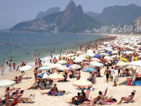 Rio de Janeiro registró este miércoles un calor réc...