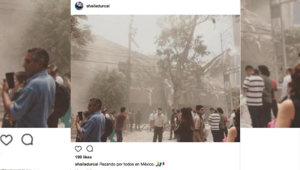 Shaila Dúrcal comenzó a rezar por todos en México,...