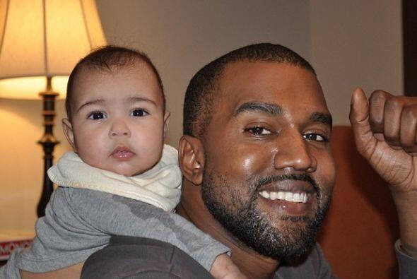Aquí con su papi. Nori es la princesa de Kanye.Más videos de Chismes aquí.