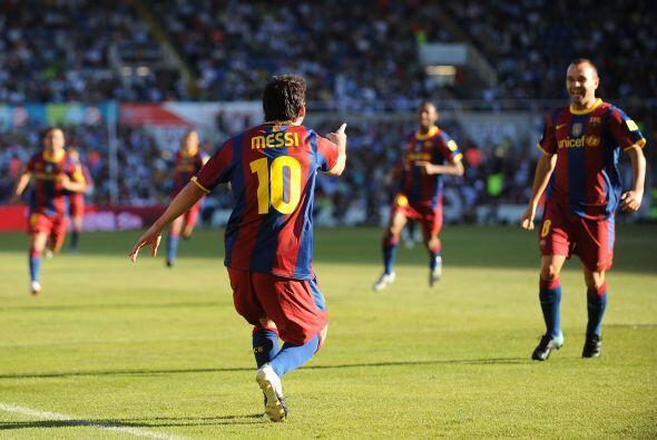 El '10' blaugrana recibió una impecable asistencia de Andrés Iniesta y s...
