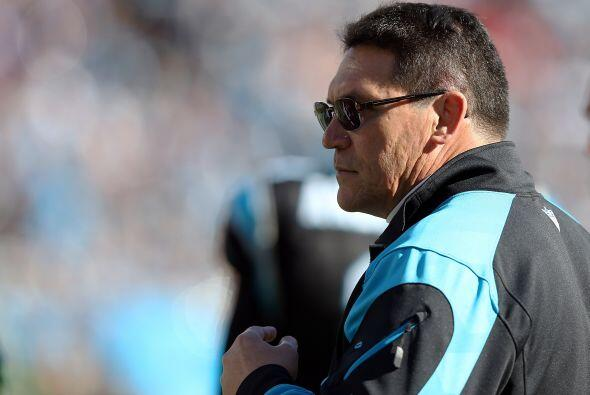Ron Rivera, entrenador en jefe de los Carolina Panthers y de Team Rice (...