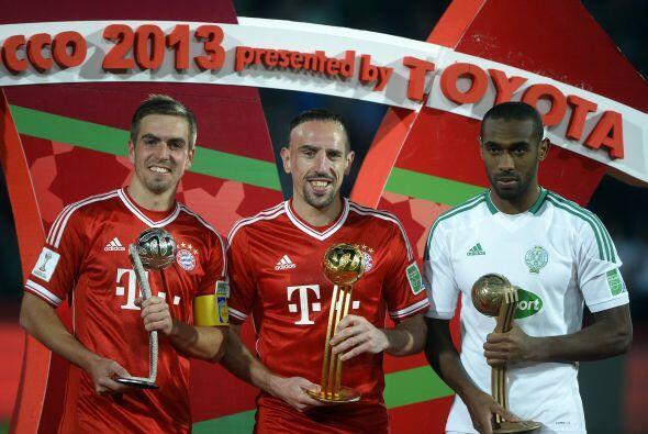 Además del Balón de Oro del Mundial de Clubes, Ribery ganó un automóvil...
