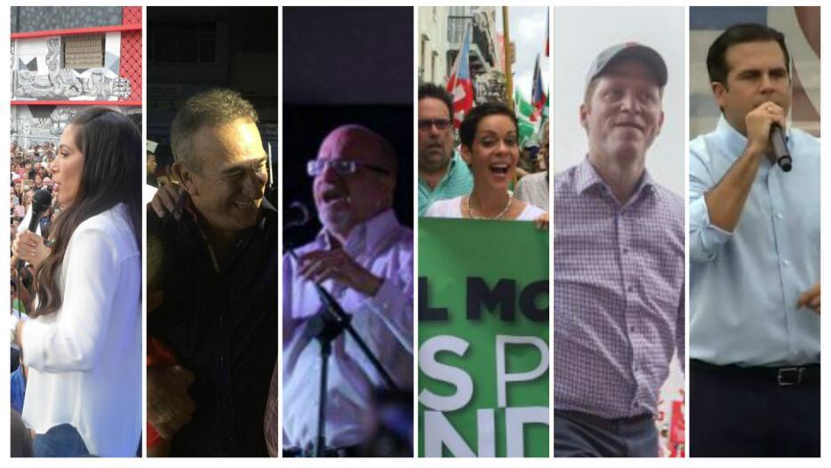 Los seis candidatos que buscan convertirse en el próximo gobernante de P...