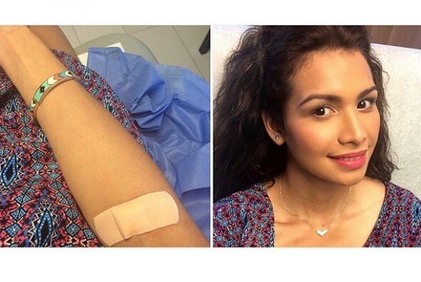 La guapa salvadoreña odia ir al hospital y más cuando le sacan sangre.