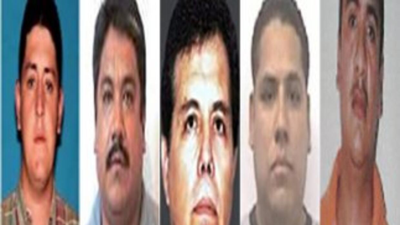 Los cinco narcos más buscados por la Justicia mexicana.