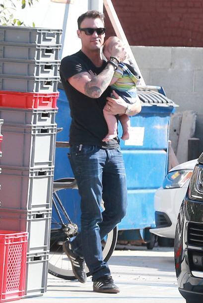 Ellos son los hombres de Megan Fox, su esposo Brian Austin Green y su hi...