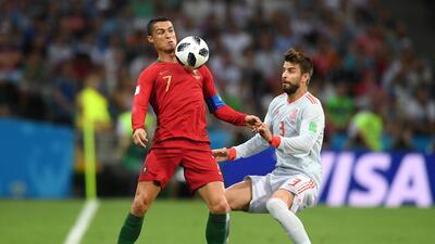 Marcaje personal: los movimientos de Cristiano Ronaldo en el empate ante España