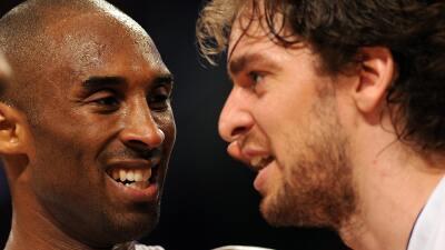 La pareja ganó dos títulos frente a los Orlando Magic (2009) y los Bosto...