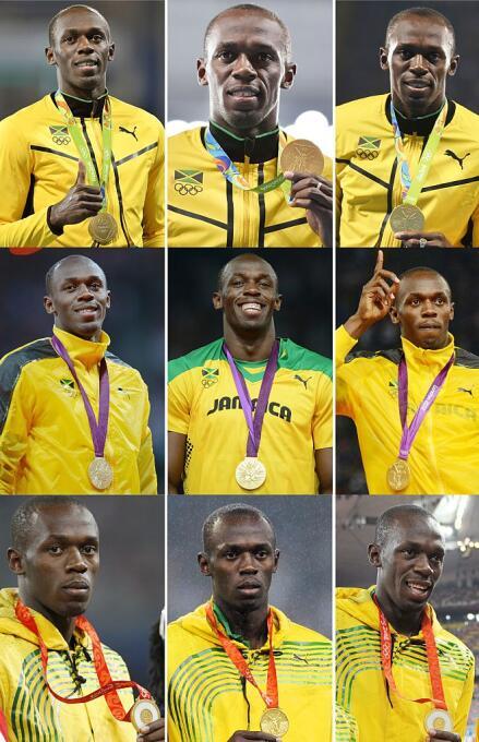 El jamaicano Usain Bolt logró el triple-triple de 100, 200 y 4x100. Prim...