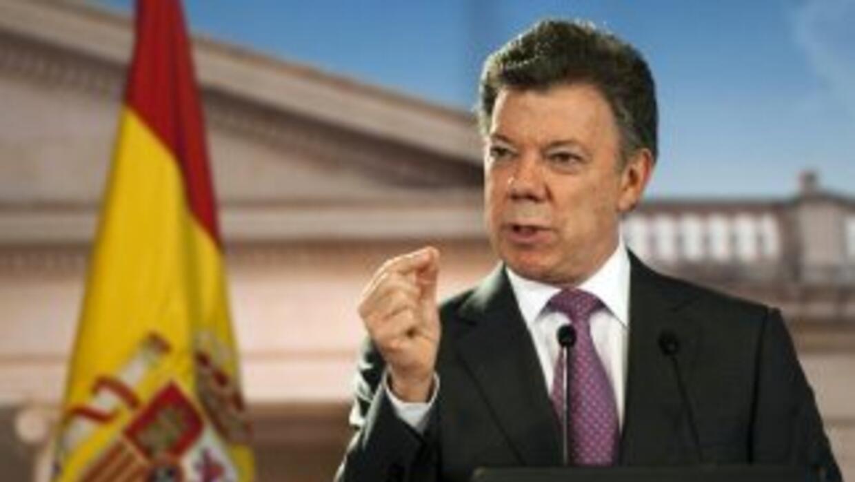 Santos ha sido nominado por sus esfuerzos para alcanzar la paz con la gu...