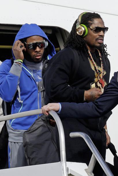 El estelar esquinero Richard Sherman y 'Beast Mode' (AP-NFL).