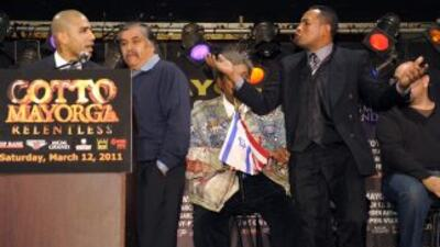 Ricardo Mayorga le dijo a Cotto que era un borracho. (Cortesia de David...