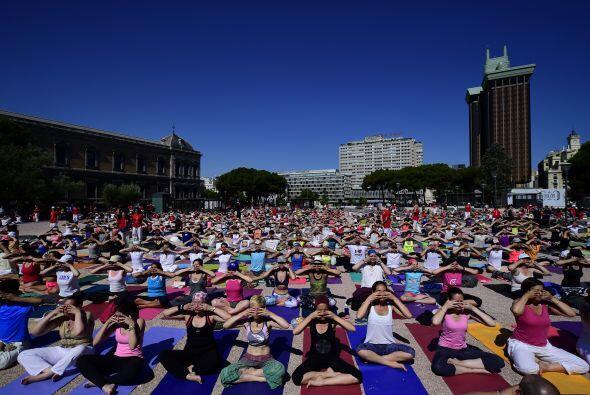 """Participantes en Madrid. """"El yoga te ayuda a llevarte bien con el mundo..."""