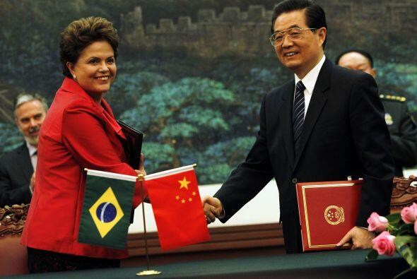 La presidenta de Brasil, Dilma Rousseff realizó una visita de Estado a B...