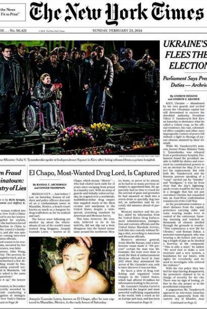 Diarios estadounidenses como The New York Times también pblicaron...
