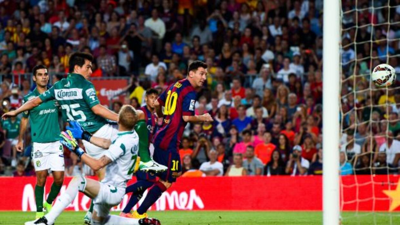 Messi abrió la fiesta de goles barcelonista con apenas tres minutos juga...