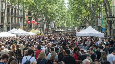 En fotos: Así luce La Rambla de Barcelona en un día normal