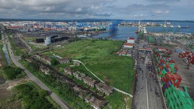 En fotos: Coco Solo, el barrio pobre justo al lado de los prósperos puertos en el Canal de Panamá