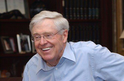 KANSAS.  Charles Koch, el presidente ejecutivo de Koch Industries, repre...