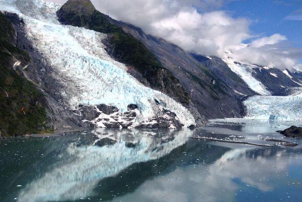 En Alaska podemos encontrar la bahía de los glaciares.