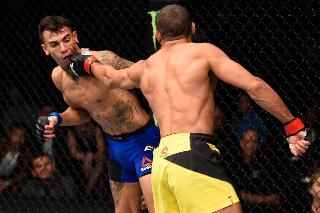 Golpes directos captados en el momento exacto en la UFC Hacran Dias Andr...