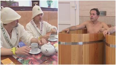 Carlos Calderón vivió su experiencia más extrema en los baños rusos (a muy baja temperatura)