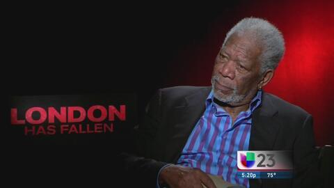 """Morgan Freeman habla de su película """"London has Fallen"""""""
