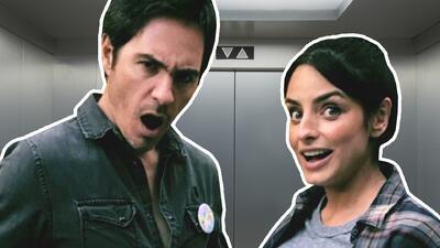 Sorprenden a Aislinn Derbez y Mauricio Ochmann haciendo travesuras en el elevador (¡qué oso!)