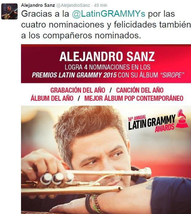 Reacciones nominados Latin GRAMMY