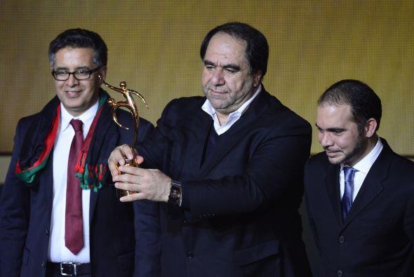 El presidente del la Federación de Fútbol de Afganistán, Karim Keramuddi...