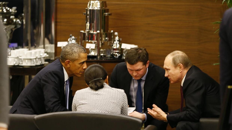 Barack Obama y Vladimir Putin.