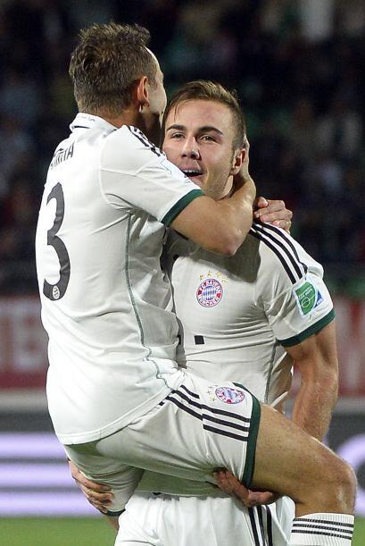 Mario Götze se ha ganado su puesto en el equipo y firmaba este último gol.