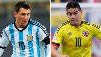 Messi y James buscan semifinales
