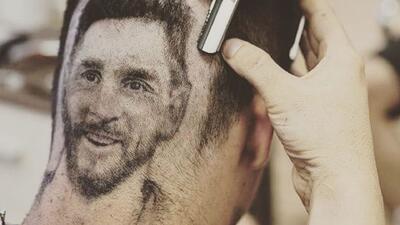 ¿Cómo quiere el corte? A lo Messi, gracias...