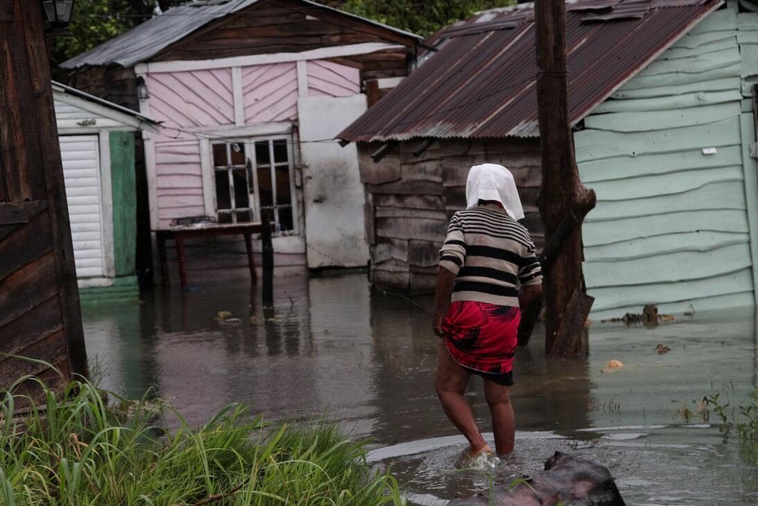 Algunas zonas de Nagua, en República Dominicana, quedaron inundadas.